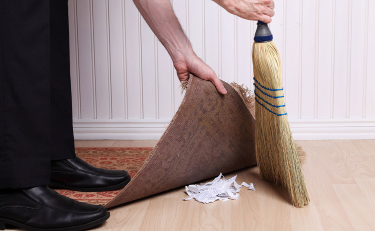 Sweep under the rug